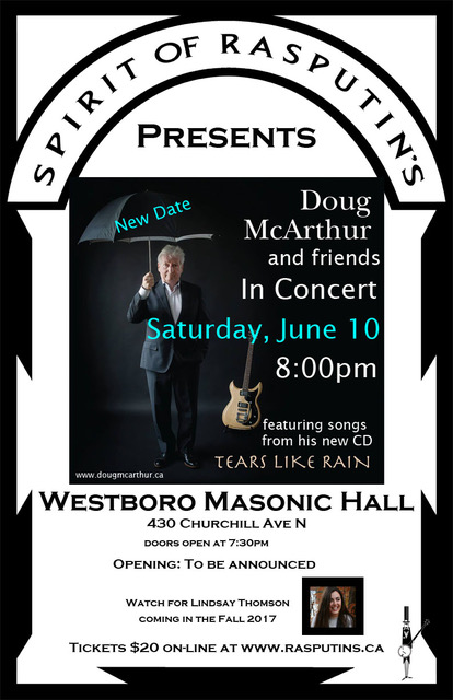 Doug McArthur poster rescheduled